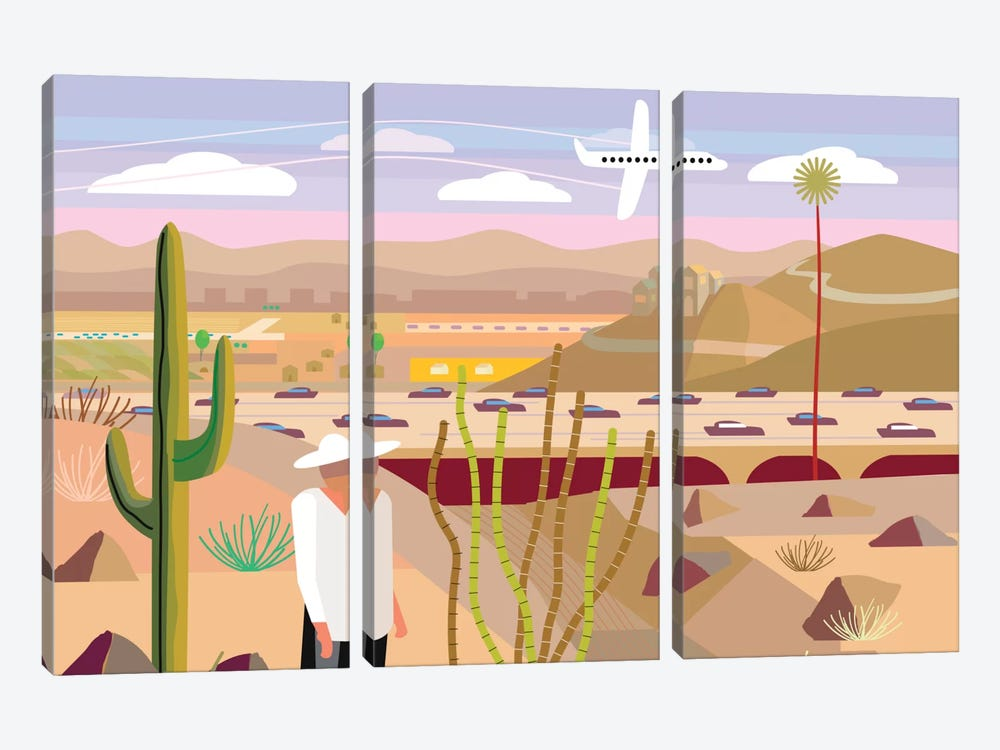 Scottsdale by Charles Harker 3-piece Art Print