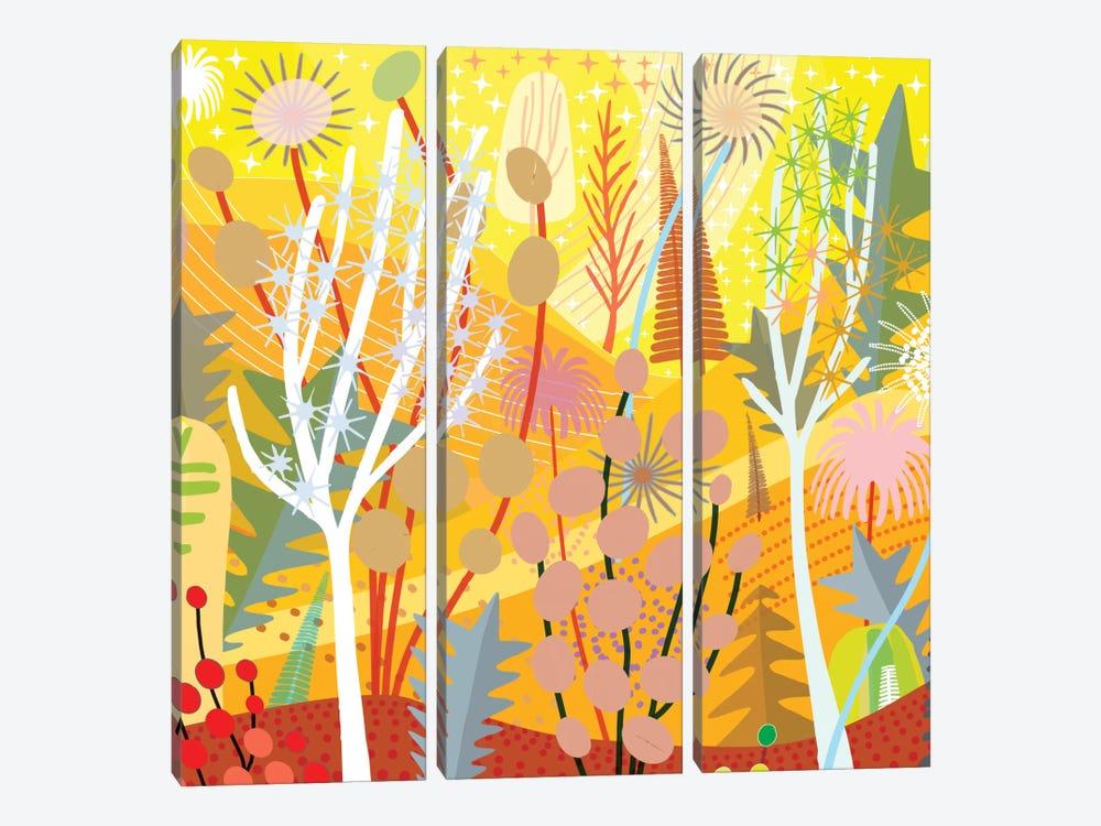 Sinaloa Lemon Summer by Charles Harker 3-piece Canvas Wall Art