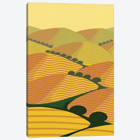 Summer Hills Canvas Print #HRK44} by Charles Harker Canvas Art