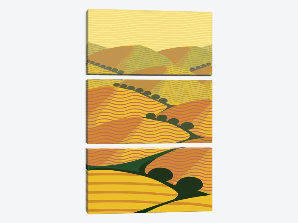 Summer Hills by Charles Harker 3-piece Art Print