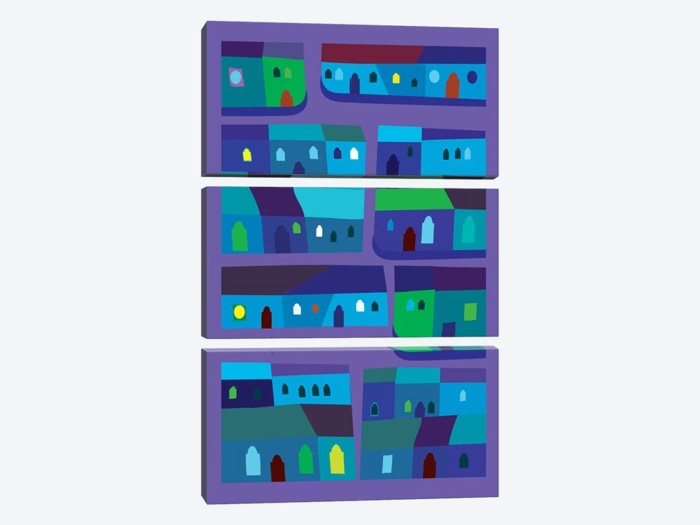 Tepito de Azul by Charles Harker 3-piece Art Print