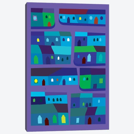 Tepito de Azul 3-Piece Canvas #HRK46} by Charles Harker Canvas Art