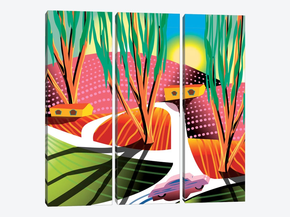 Trip To Elysian Park by Charles Harker 3-piece Canvas Art