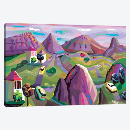 Truffle Trail In Chablis 3-Piece Canvas #HRK48} by Charles Harker Art Print