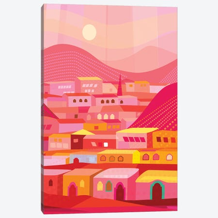 San Miguel Afternoon Canvas Print #HRK59} by Charles Harker Canvas Art