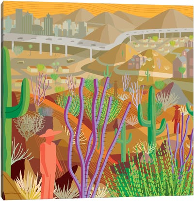Desert City Phoenix Canvas Art Print