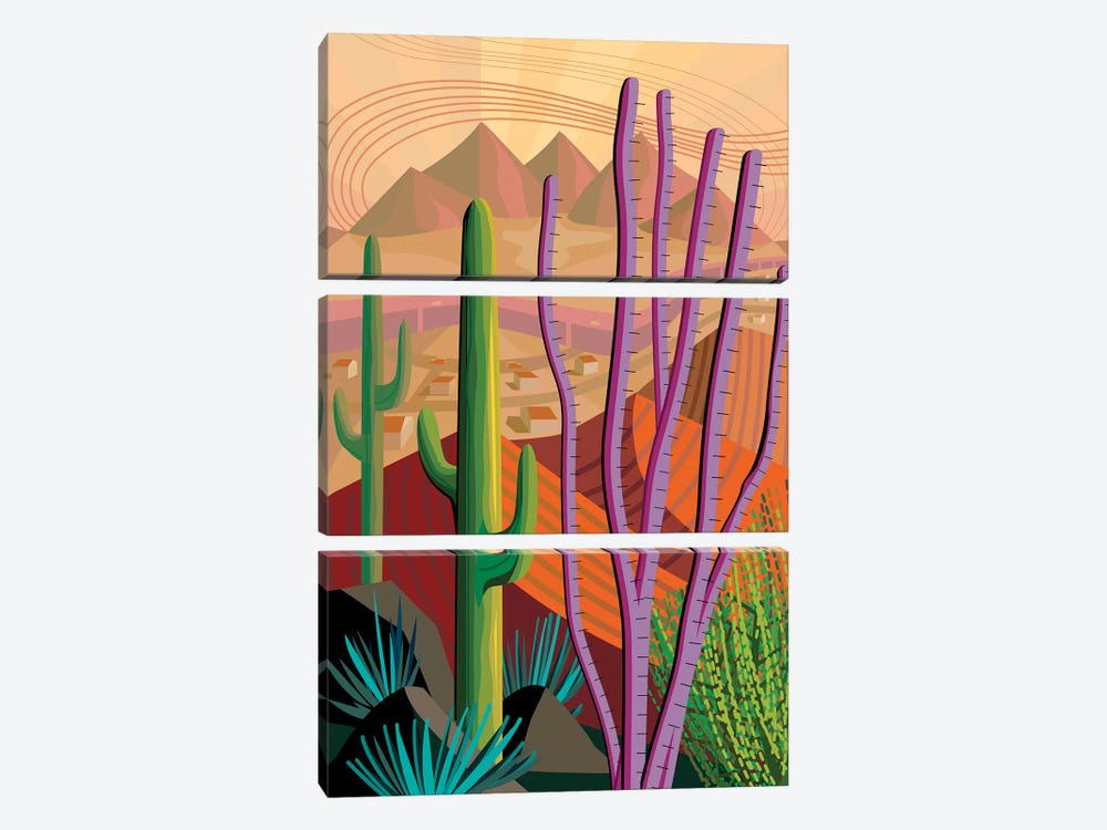 Tucson by Charles Harker 3-piece Canvas Artwork