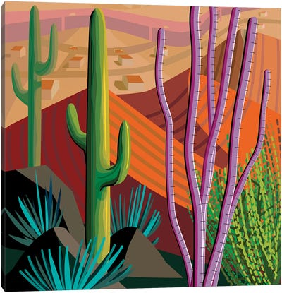 Tucson, Square Canvas Art Print