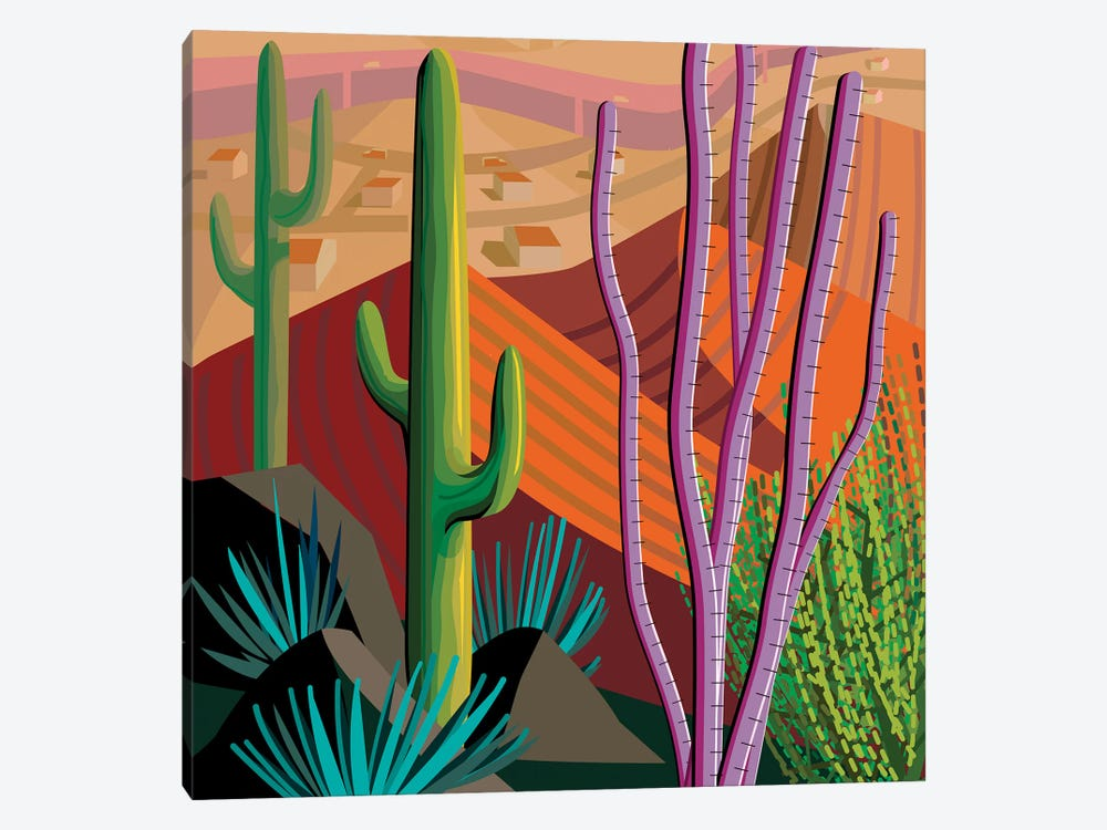 Tucson, Square by Charles Harker 1-piece Canvas Print