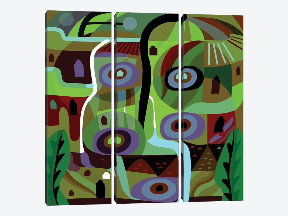 Forest Green by Charles Harker 3-piece Canvas Artwork