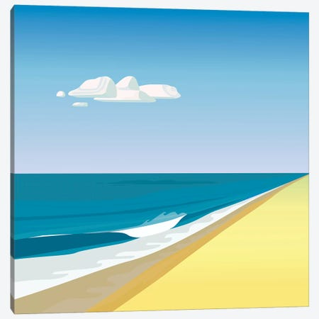 Rothko Beach Canvas Print #HRK66} by Charles Harker Canvas Artwork