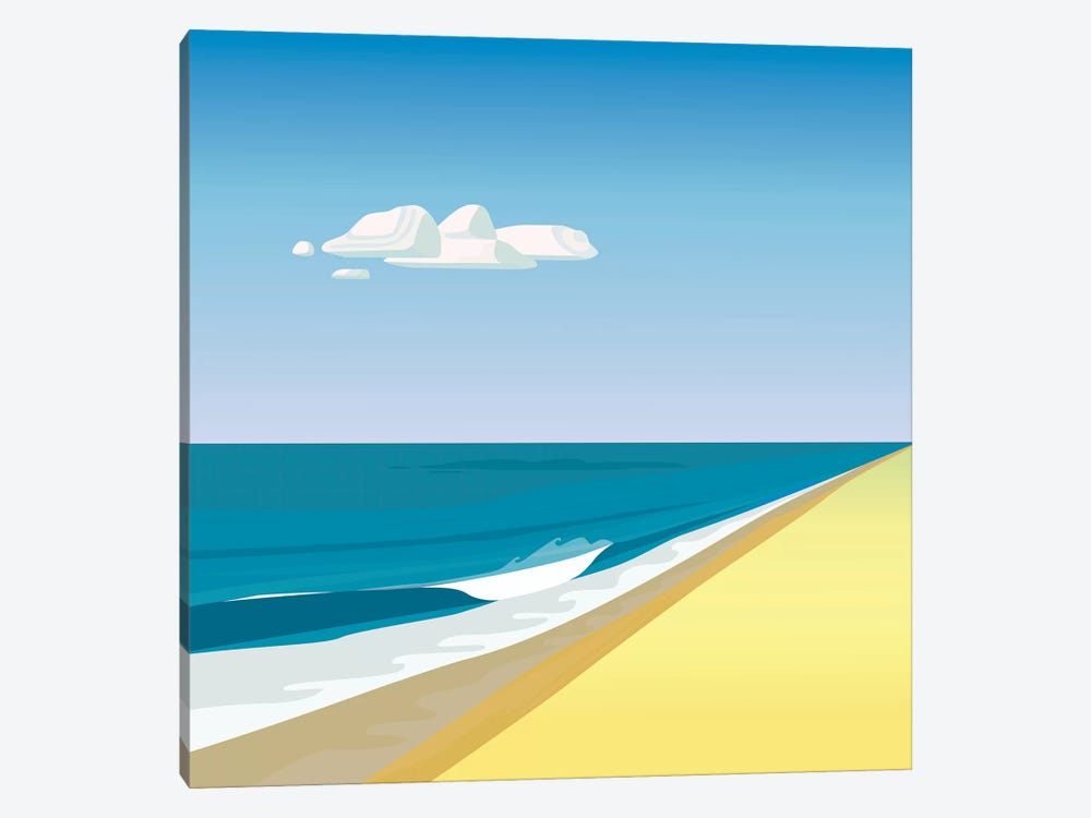 Rothko Beach by Charles Harker 1-piece Canvas Print