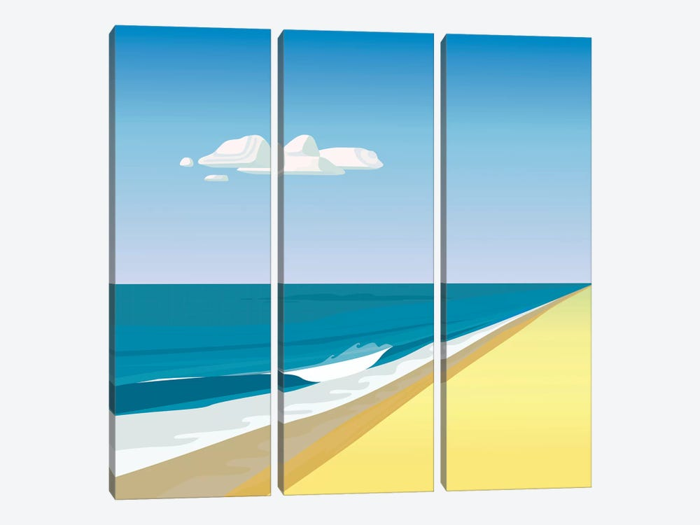 Rothko Beach by Charles Harker 3-piece Canvas Art Print