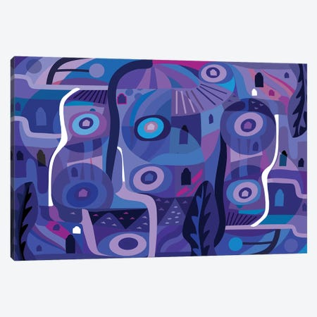 Blue Pozole  Canvas Print #HRK68} by Charles Harker Canvas Art Print