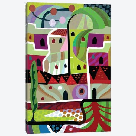 Malibu Villa  Canvas Print #HRK72} by Charles Harker Canvas Art