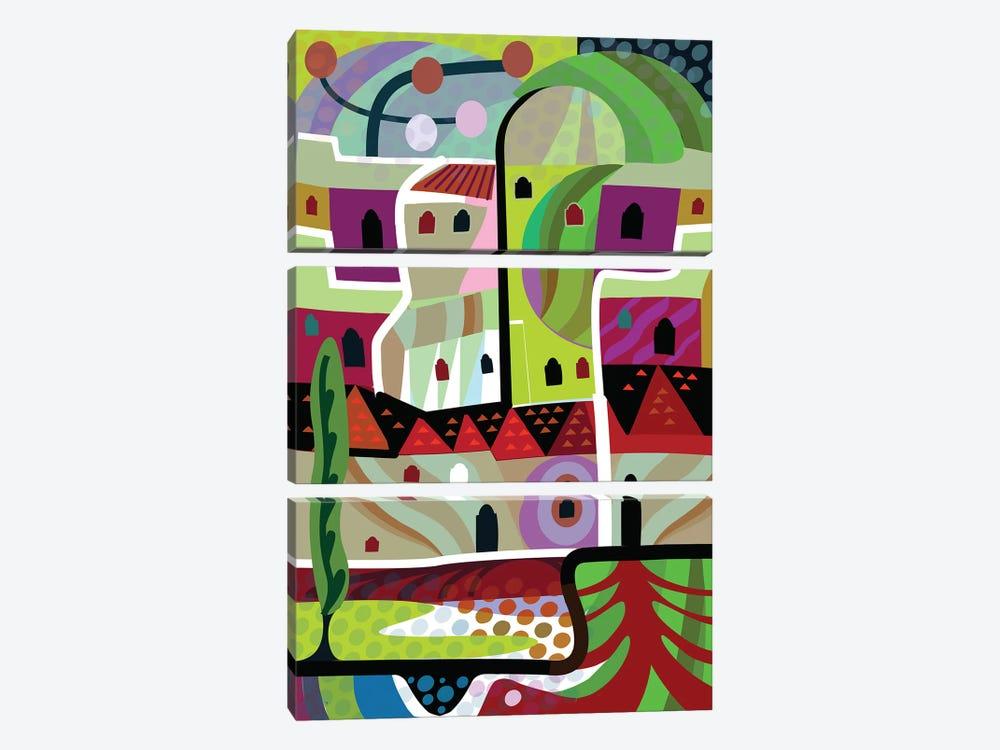 Malibu Villa  by Charles Harker 3-piece Canvas Wall Art