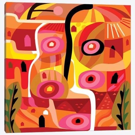 Orange Silverlake  Canvas Print #HRK73} by Charles Harker Canvas Artwork