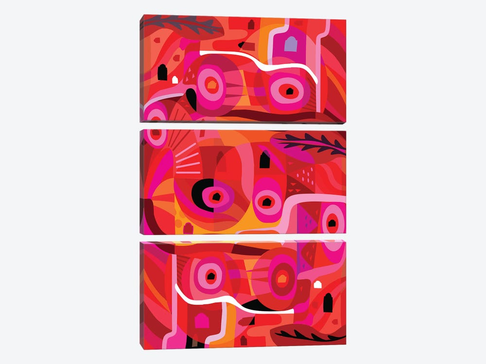 Rosa Mexicana  by Charles Harker 3-piece Canvas Wall Art