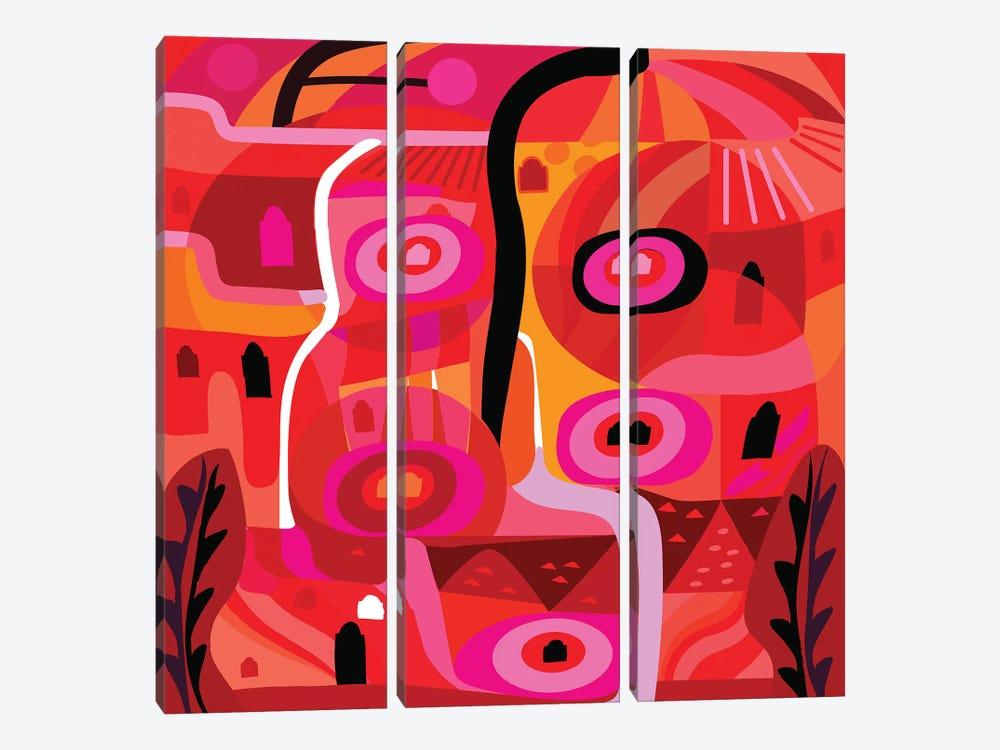 Zacatecas Plaza  by Charles Harker 3-piece Art Print