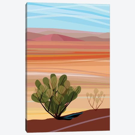 Mojave Desert, Vertical Canvas Print #HRK78} by Charles Harker Canvas Art