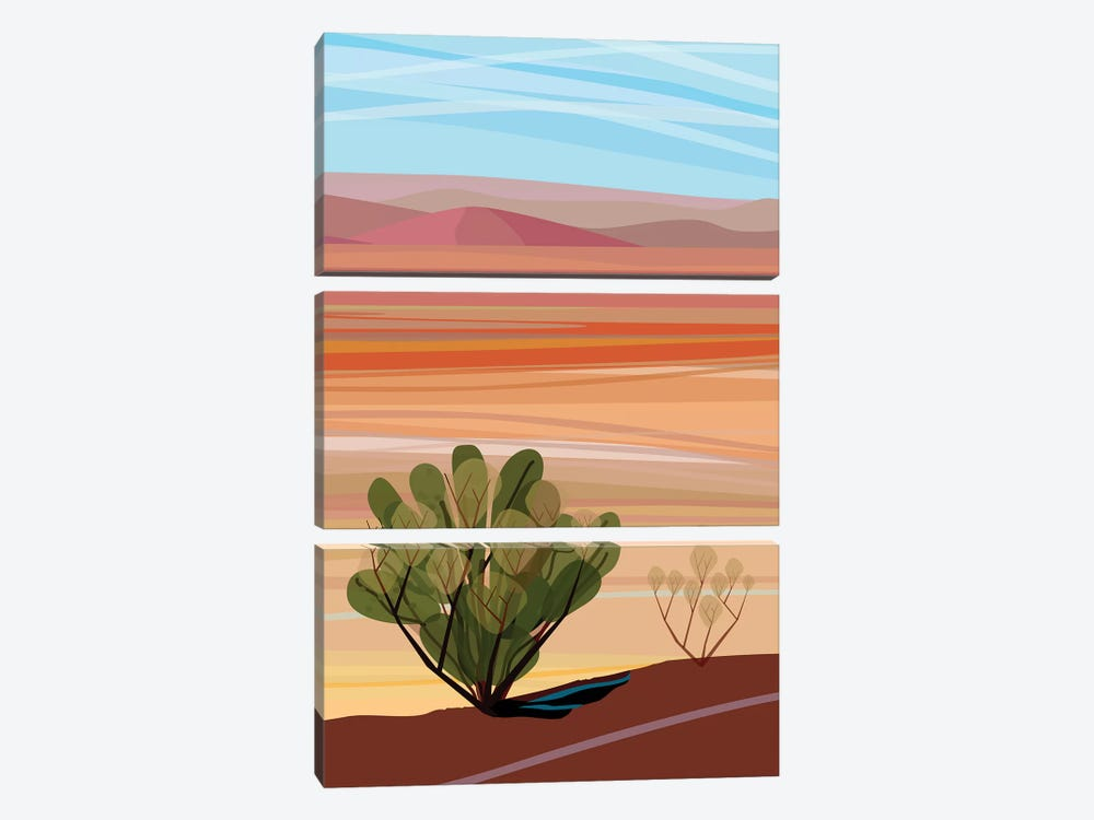 Mojave Desert, Vertical by Charles Harker 3-piece Canvas Artwork