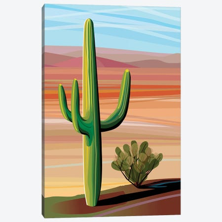 Sonora Desert Saguaro Canvas Print #HRK82} by Charles Harker Art Print
