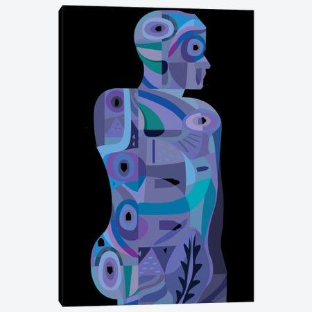 Tattooed Man Canvas Print #HRK83} by Charles Harker Canvas Art Print