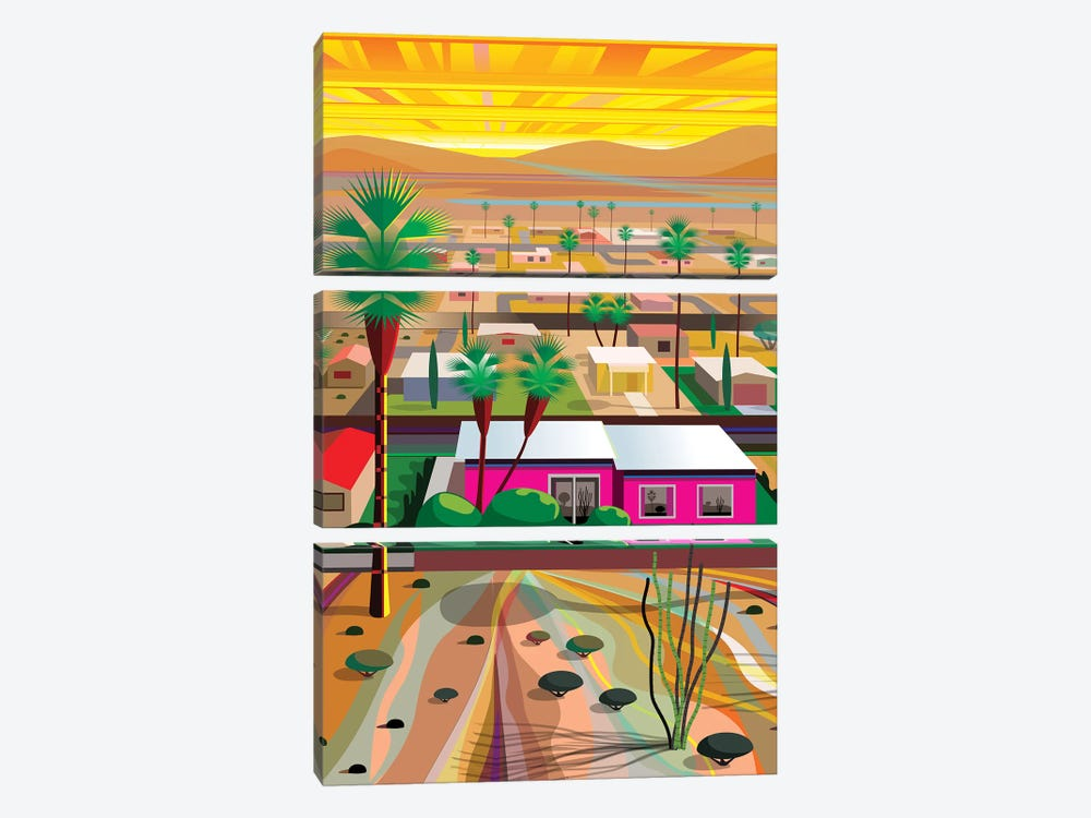 Twentynine Palms, Vertical 3-piece Art Print