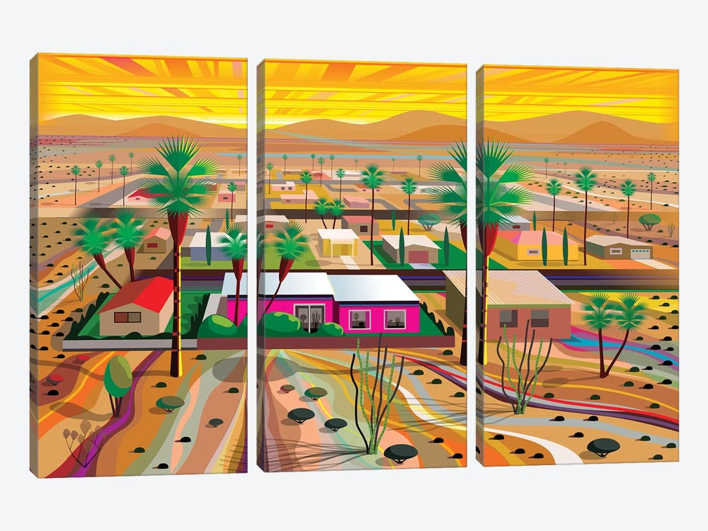 Twentynine Palms by Charles Harker 3-piece Canvas Artwork