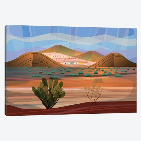 Copper Town Canvas Print #HRK86} by Charles Harker Canvas Art