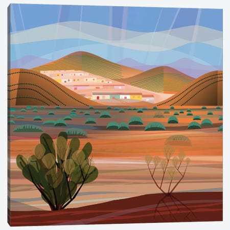Copper Town, Square Canvas Print #HRK87} by Charles Harker Canvas Art
