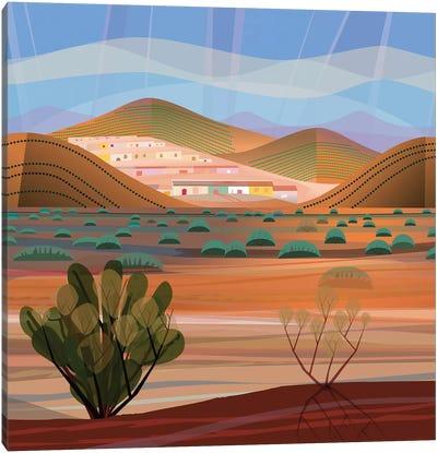 Copper Town, Square Canvas Art Print