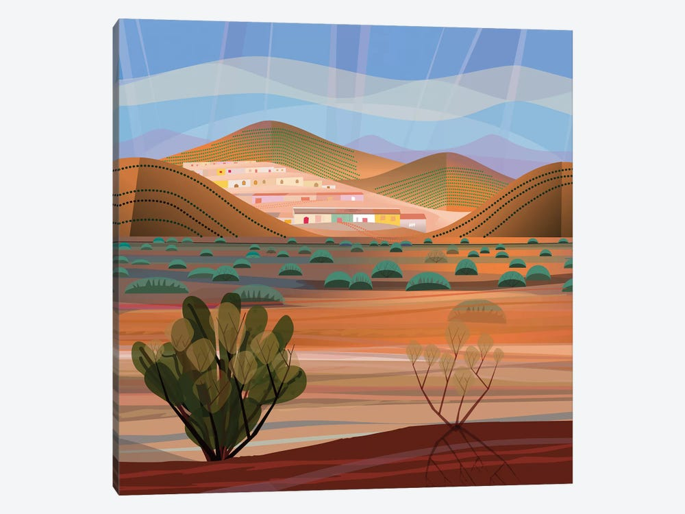 Copper Town, Square by Charles Harker 1-piece Canvas Artwork