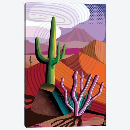 Gila River Reserve 3-Piece Canvas #HRK88} by Charles Harker Canvas Art Print