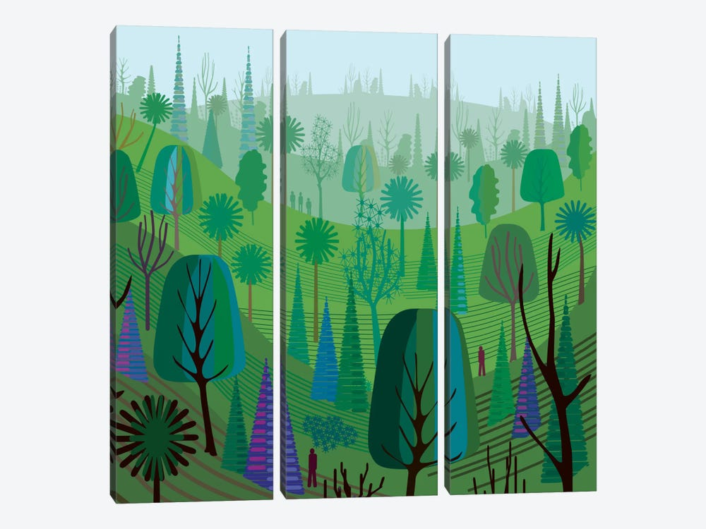 Elysian Park by Charles Harker 3-piece Canvas Art Print