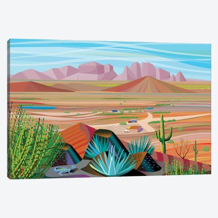 West Of Phoenix Canvas Print #HRK91} by Charles Harker Canvas Artwork
