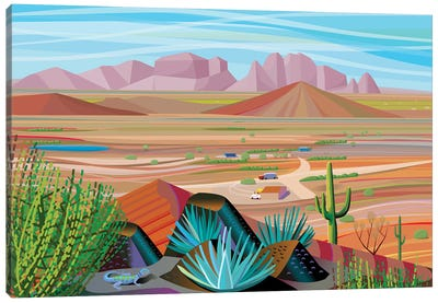 West Of Phoenix Canvas Art Print