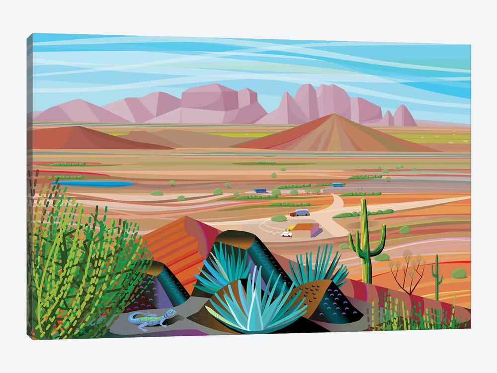 West Of Phoenix by Charles Harker 1-piece Art Print
