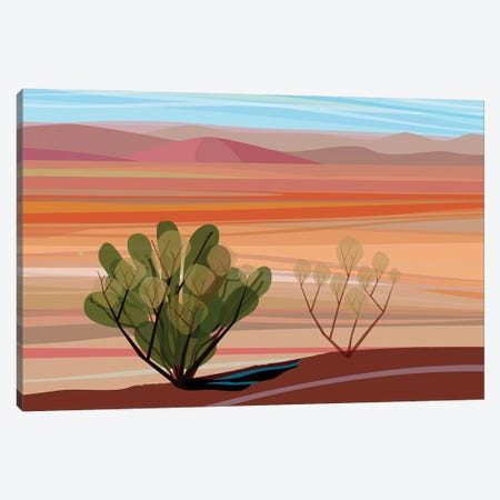 Mojave Desert, Horizontal Canvas Print #HRK93} by Charles Harker Canvas Artwork
