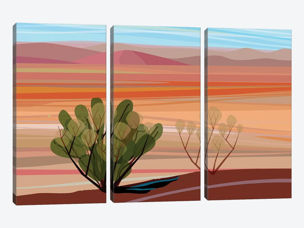 Mojave Desert, Horizontal by Charles Harker 3-piece Art Print