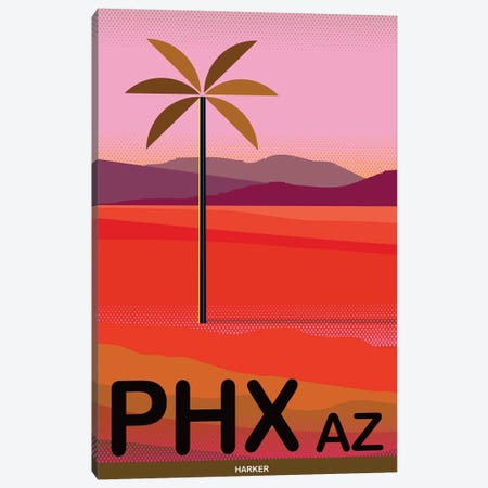 Phoenix Travel Poster Canvas Print #HRK94} by Charles Harker Art Print