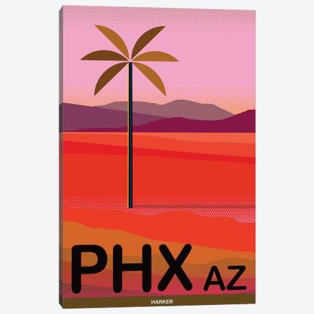 Phoenix Travel Poster Canvas Print #HRK94} by Charles Harker Art Print