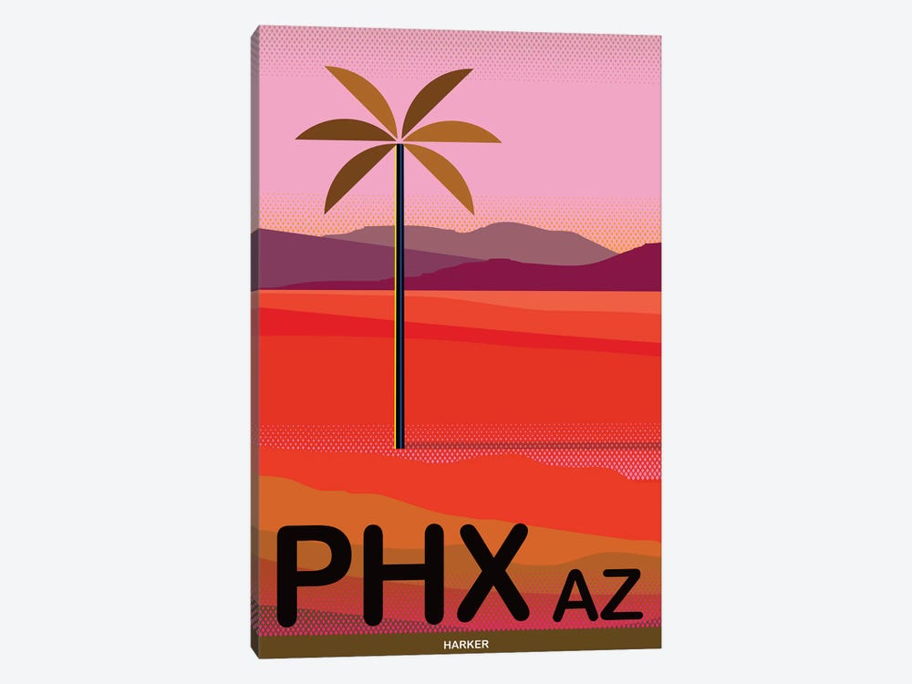 Phoenix Travel Poster by Charles Harker 1-piece Canvas Art