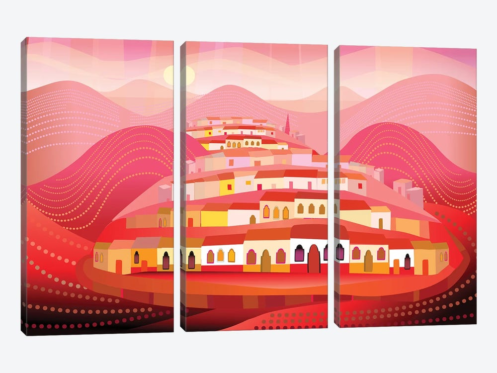 Pueblo Magico 3-piece Canvas Print