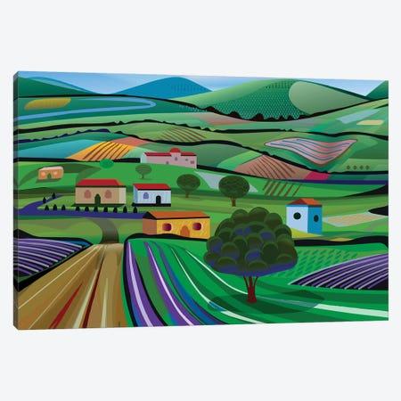 Santa Barbara Farms Canvas Print #HRK96} by Charles Harker Canvas Print