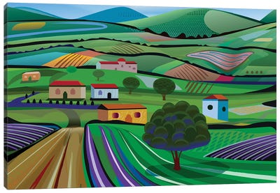 Santa Barbara Farms Canvas Art Print
