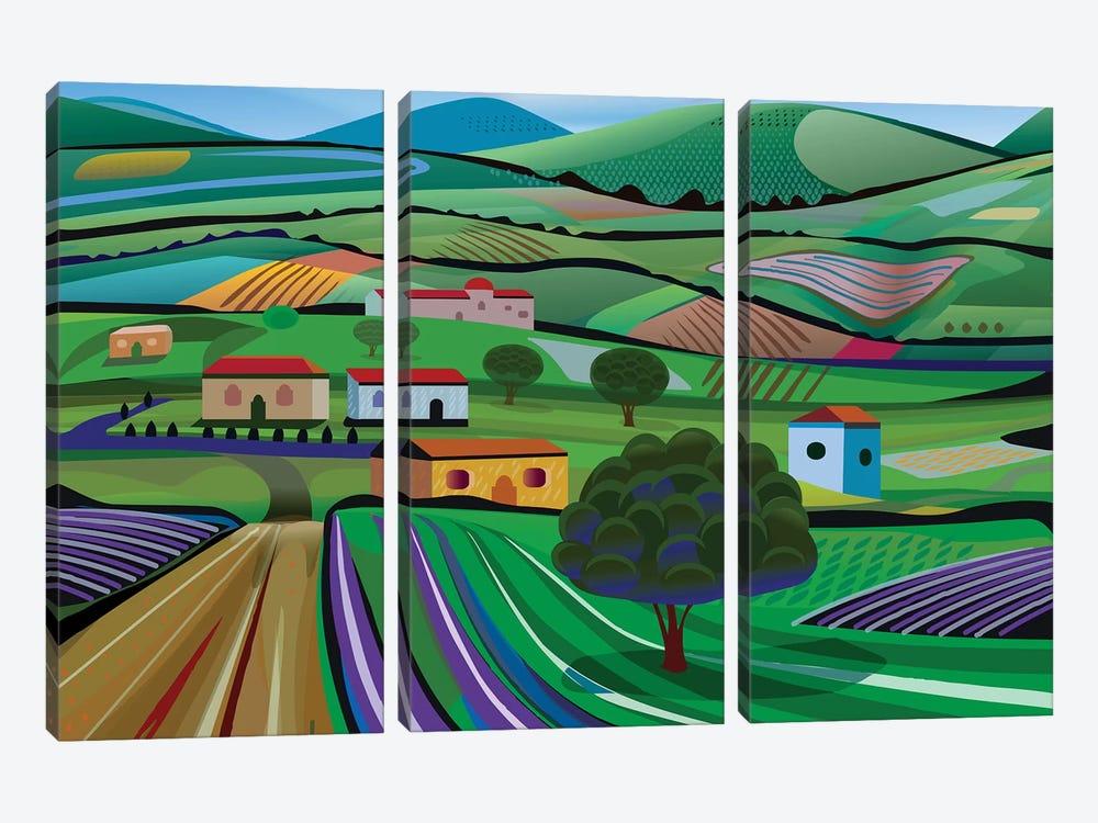 Santa Barbara Farms by Charles Harker 3-piece Canvas Wall Art