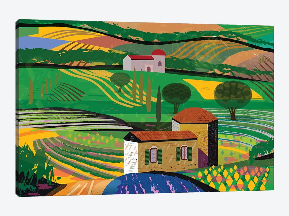 Summer Fields by Charles Harker 1-piece Art Print