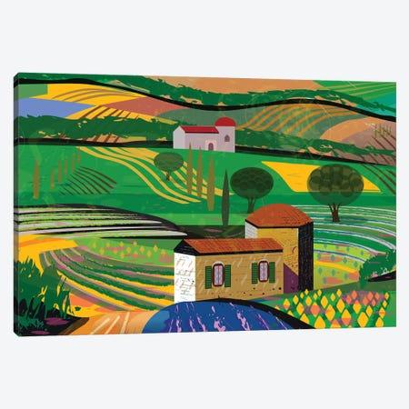 Summer Fields Canvas Print #HRK97} by Charles Harker Canvas Art Print