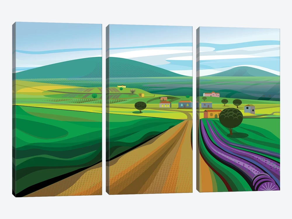 Walla Walla Farms 3-piece Canvas Wall Art